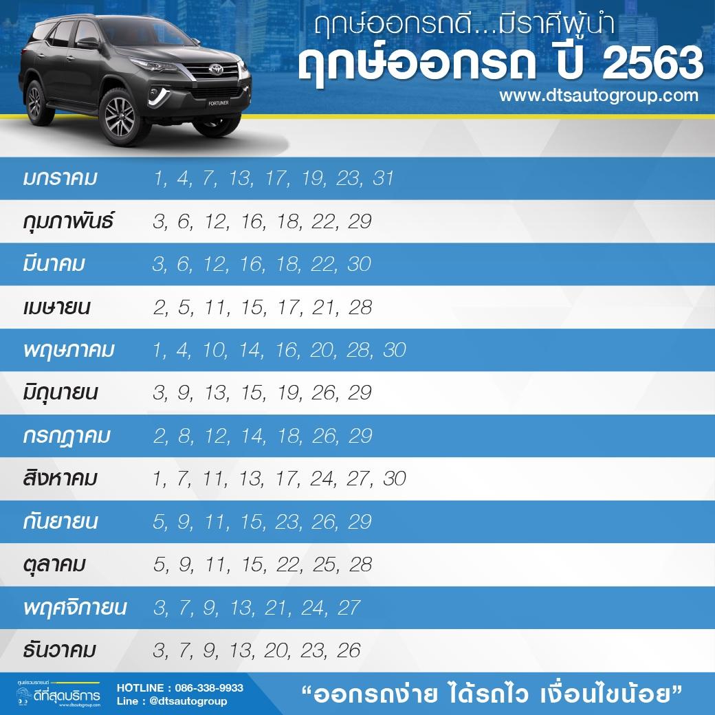 ฤกษ์ออกรถ-2563